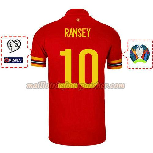 maillot galles 2020 domicile aaron ramsey 10
