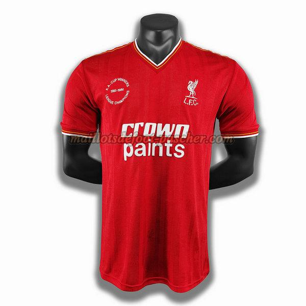 maillot liverpool 1985 1986 domicile player rouge