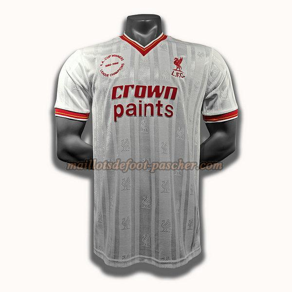 maillot liverpool 1985 1986 exterieur player blanc