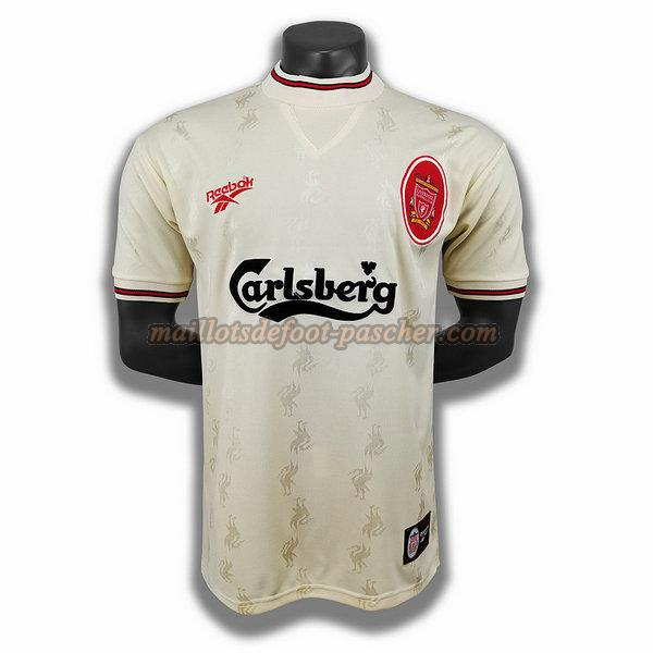 maillot liverpool 1996 exterieur player blanc