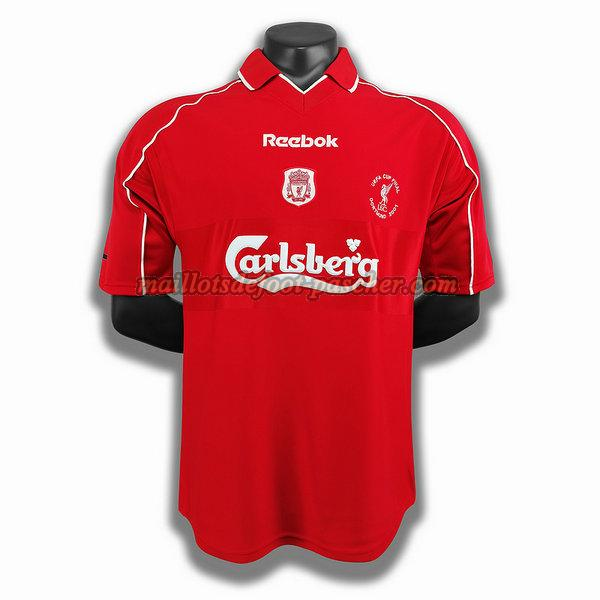maillot liverpool 2000 2001 domicile player rouge