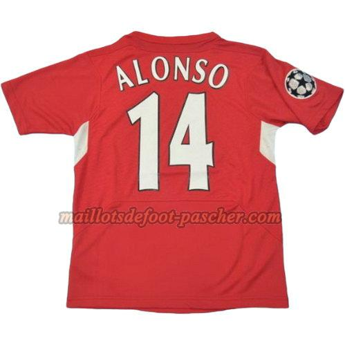 maillot liverpool 2004-2005 domicile alonso 14