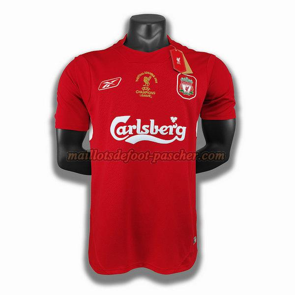 maillot liverpool 2005 domicile player rouge