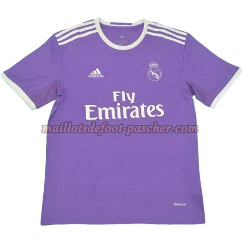 maillot manche courte real madrid 2016-2017 exterieur