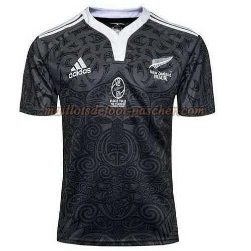 maillot rugby all blacks 100th noir