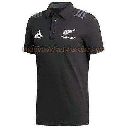 maillot rugby all blacks polo 2018 noir