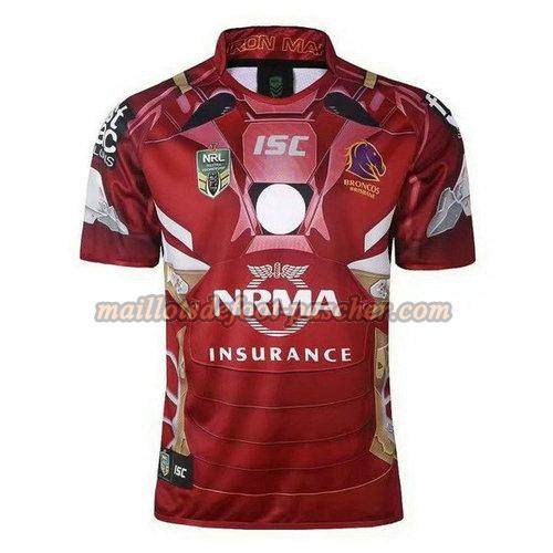 maillot rugby brisbane broncos 2017-2018 rouge