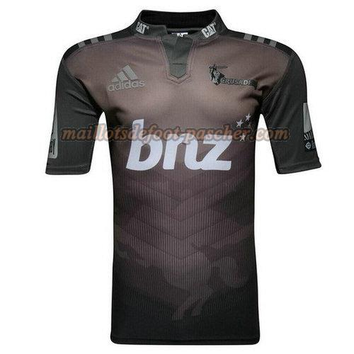 maillot rugby crusaders 2017-2018 exterieur noir