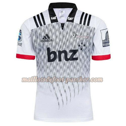 maillot rugby crusaders 2018 exterieur blanc