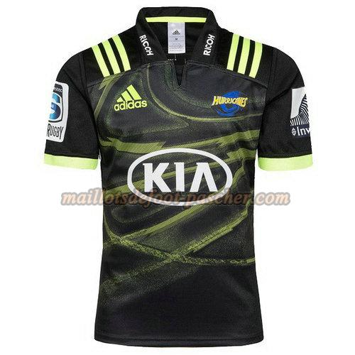 maillot rugby hurricanes 2018 exterieur noir