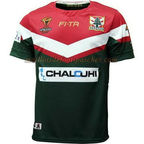 maillot rugby líbano 2017-2018 domicile vert