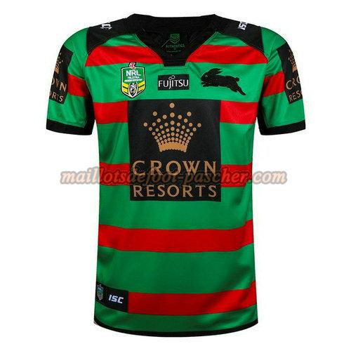 maillot rugby south sydney rabbitohs 2017-2018 domicile vert