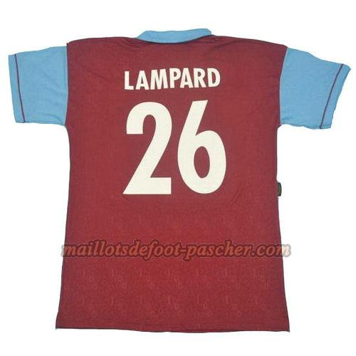 maillot west ham united 1995 100th domicile lampard 26