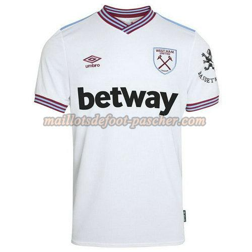 maillot west ham united 2019-2020 exterieur